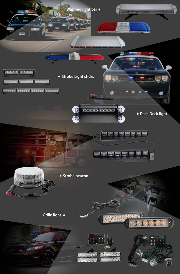 Customized red blue white amber vehicle magnetic warning light bar customized red blue white amber vehicle magnetic warning light bar used police led roof strobe light mozeypictures Gallery