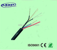 2---24 core aerial single mode optical fiber power composite cable price per meter