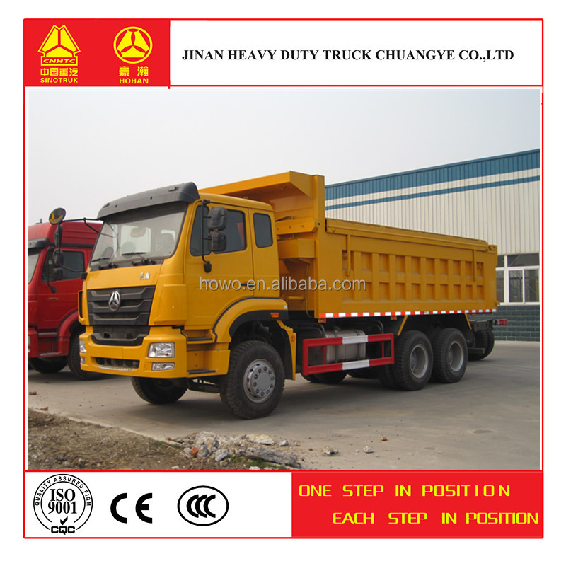 Professional manufacturer hot sale hohan 6x4 dump/tipper truck
