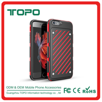 Shockproof slim soft TPU+PC 2in1 combo mobile phone back cover hard plastic armor Anti-fall phone cell case for iPhone 6 6s plus