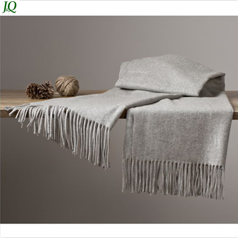 Pure 100% Wool Mir Cashmere Kashmir Scarf with Fringes