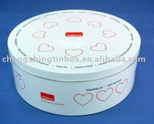 Round tin food container house