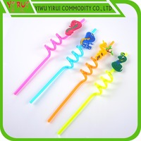 terrible snake logo crazy spiral drinking straws for children party