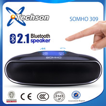 China best Wireless 3d surround stereo bluetooth speaker with touch button pill design new style
