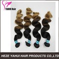 Very cheap ombre color straight human hair weft