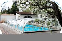XINHAI new hard swimming pool cover,strong swimming pool roofing,polycarbonate roofing sheet