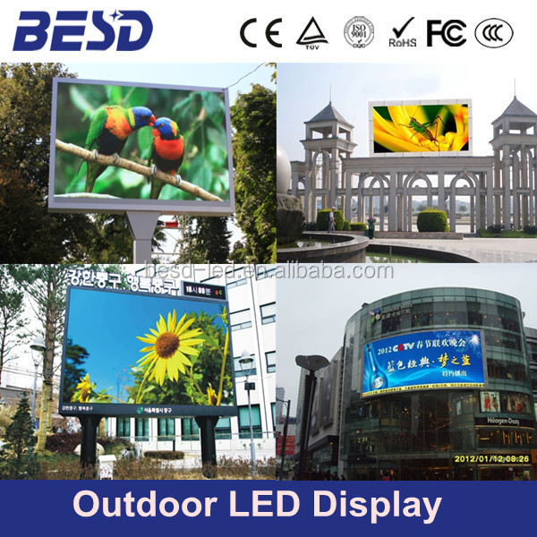 P20 digital billboard/ wall mounted roof building waterproof led display/ P16 outdoor full color led display
