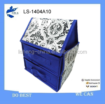 beautiful foldable room storage box with 2 drawer