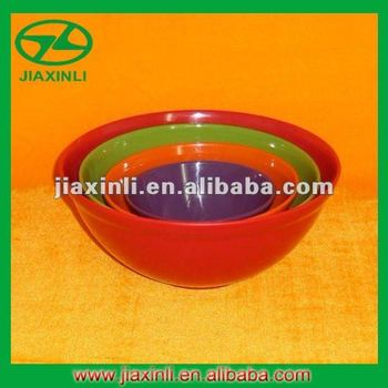 4PC Melamine Mixing Bowl