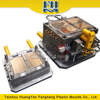 plastic food container with the lid injection mold plastic thin wall injection mould