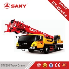 SANY STC250 25 Tons Used small Condition Crane Truck Secondhand Truck Mounted Crane 2012 Year used truck crane in algeria