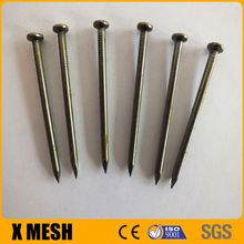 "Polished Flat Head Common Wire Nails 4.00mm Gauge 4"" Length"