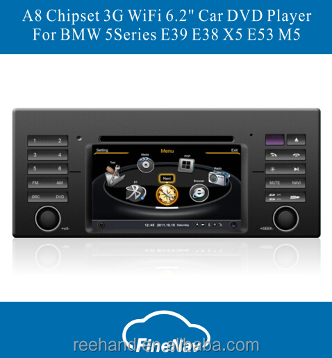 Bluetooth Car Audio and Radio For BMW 5Series E39 E38 X5 E53 M5 With A8 Chipset 3G WiFi GPS Radio Bluetooth Free Map Canbus