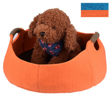 Hot Sell Handmade Fashion Felt cloth Puppy Pet Cat Bed With Handle