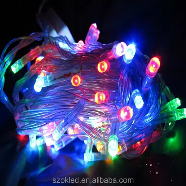 outdoor decoration led christmas light / led m5 led string lights,White color led string light Any color available
