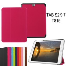 China Supplier Plain PU Leather Tablet Case for Samsung Tab S2 9.7 inches T815 T810