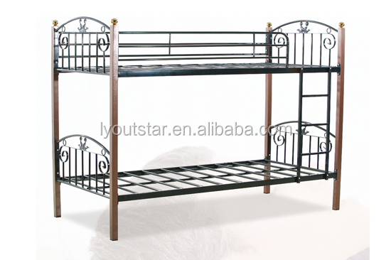 School hostel use and Metal Material folding double deck bed