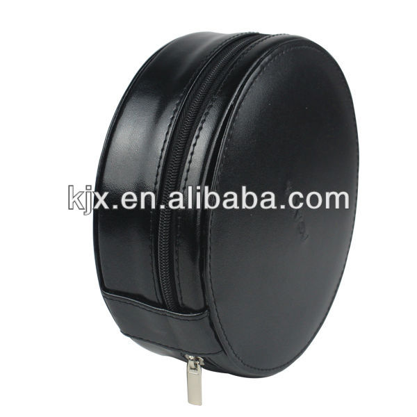 BSCI Mini Black Round Shape PU Leather Coin Purses use for Promotion