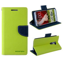 Dual Colors Goospery PU Leather flip mobile phone case for samsung galaxy mega 5.8