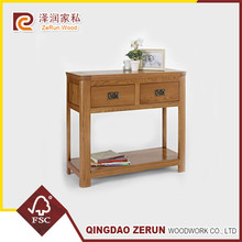Curved Wooden Console Table with European Style