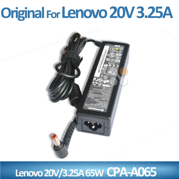 5.5*2.5mm CAP-A065 ac 20v 3.25a 65w charger for Lenovo laptop ac adapter