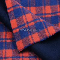 100% merino wool felt stock double faced plaid fabric for fall winter coats