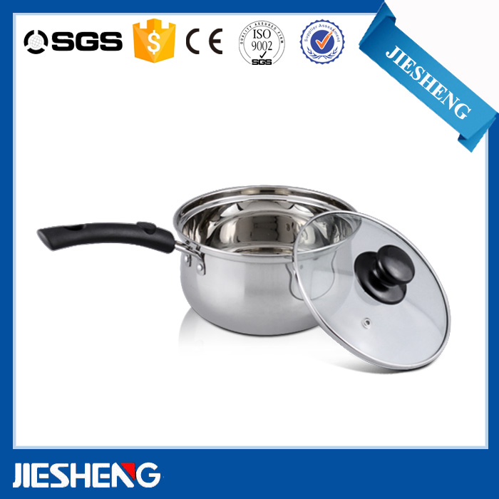 Light stainless steel cooks club cookware set cooking milk pot