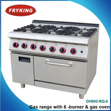 Gas range with 6 burner & gas oven