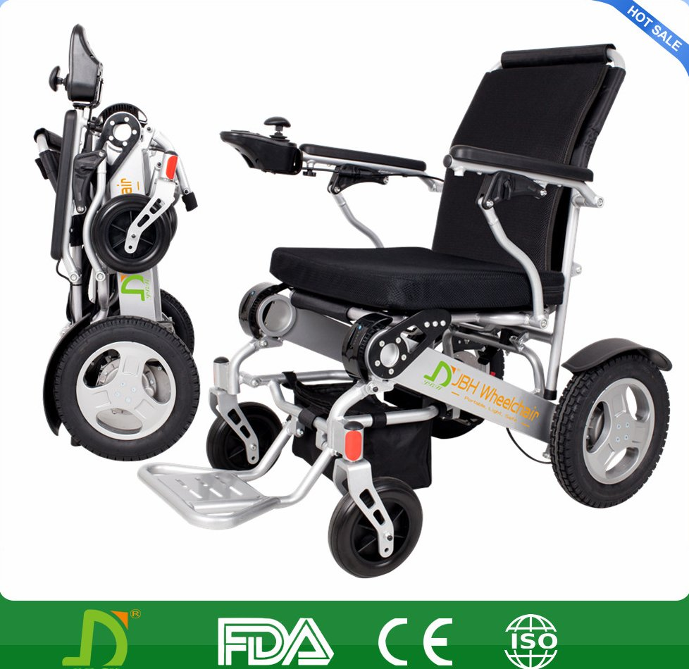 2016 Lightweight Portable Travel Aluminum Folding Lithium Battery Power Electric Wheelchair In Car,Airplane,Metro