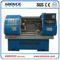 AWR2532 Alloy wheel diamond cutting repair lathe price