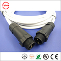 M14 electrical wire connector ip67 male waterproof m14 cable 2 pin male conector