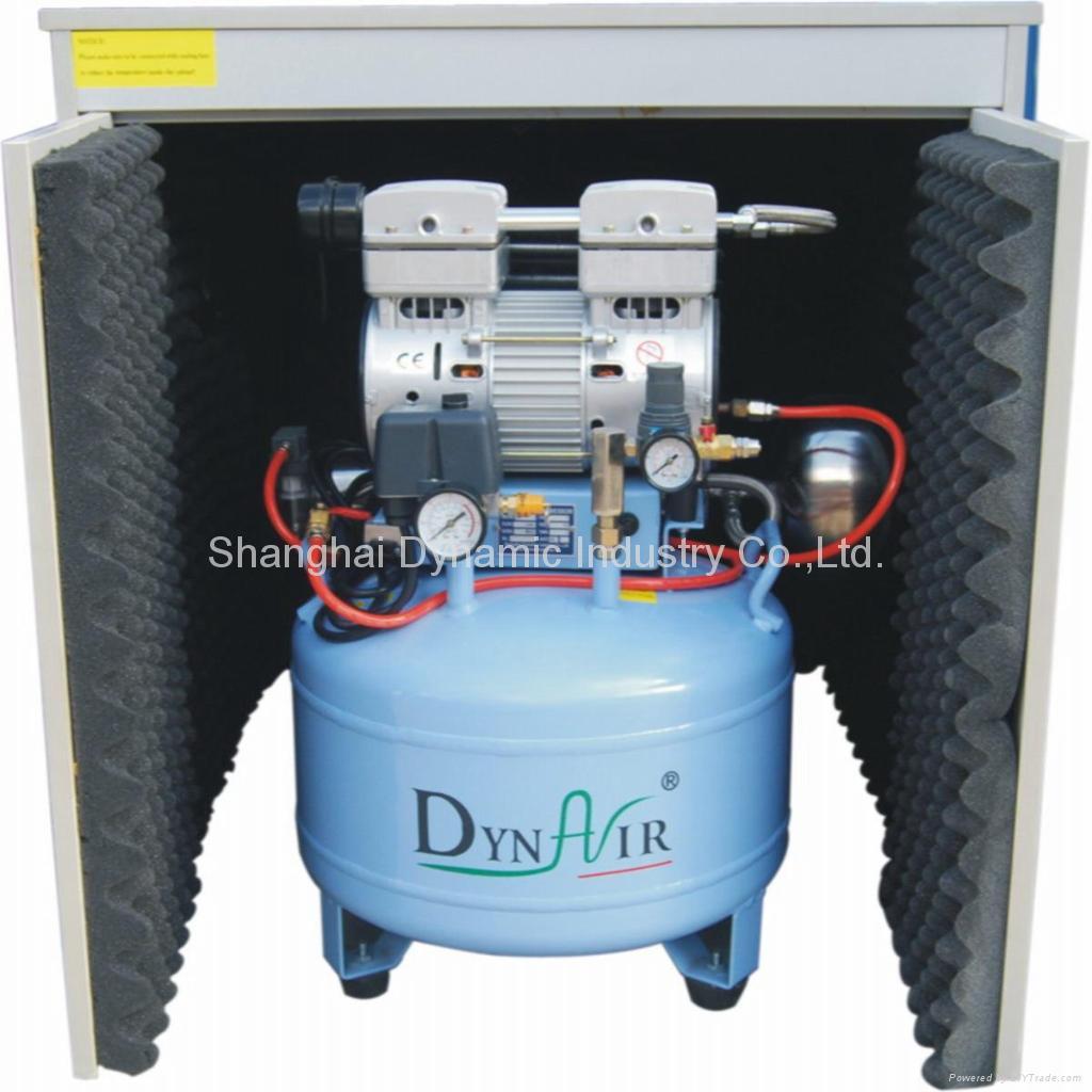 Sin aceite silencioso compresor de aire con secador y for Compresor de aire silencioso