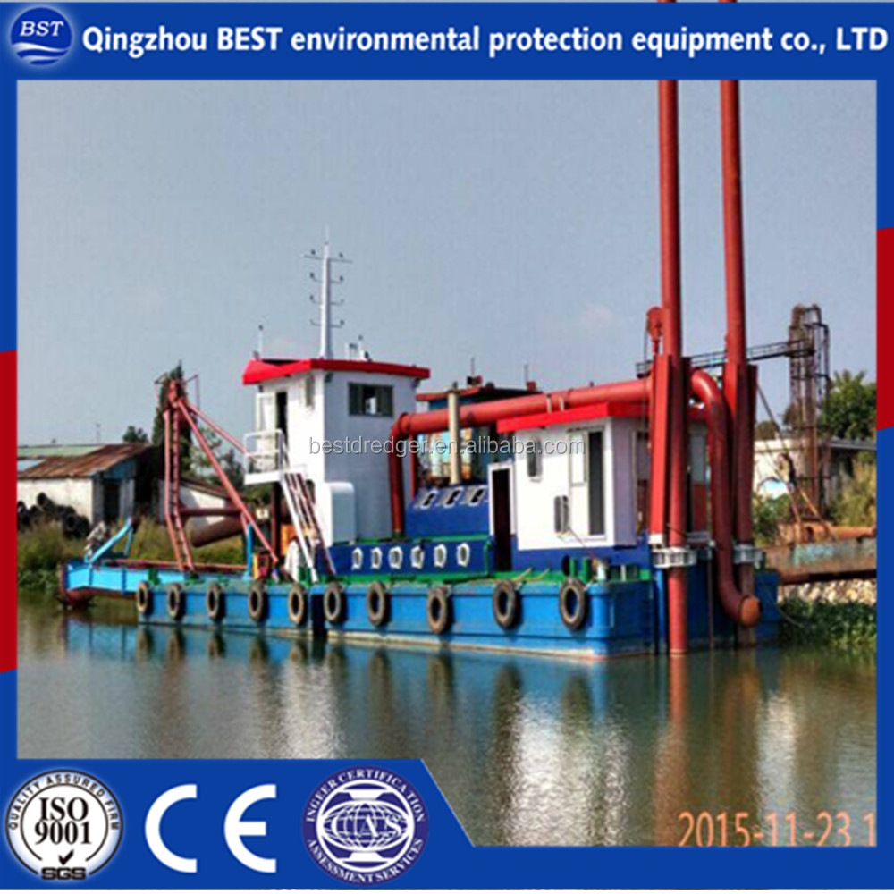 New cutter suction dredging machine/gold sand mining dredge/dredger for beach dredging on sale