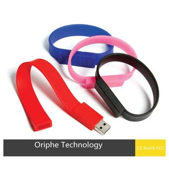 Hot seller promotion gift wholesale silicone bracelet usb flash drive