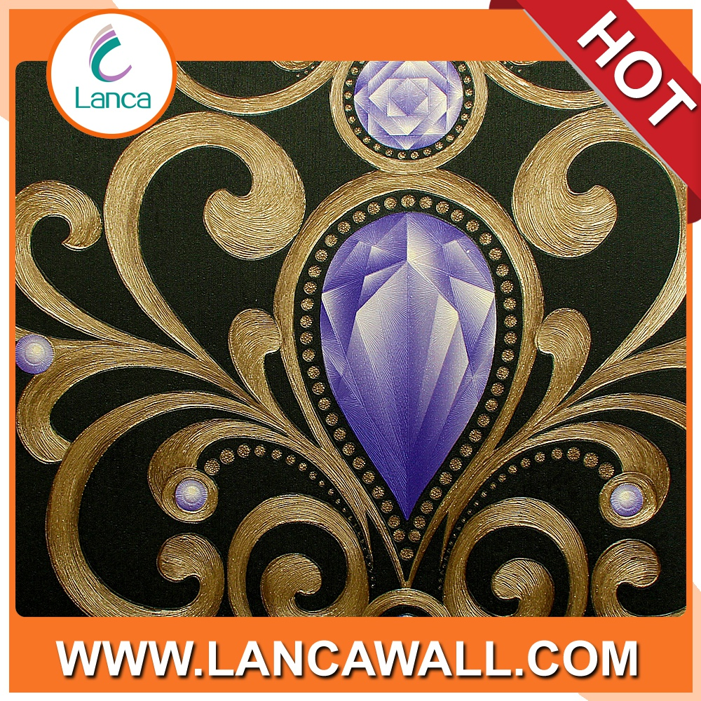 Wall Decoration PVC Waterproof 3D Wall Paper for Bathroom/Bedroom/Living Room