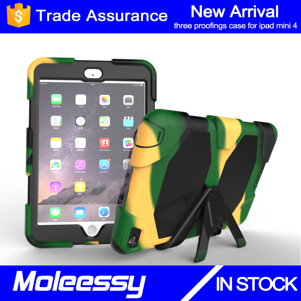 Hybrid waterproof with high quality rugged heavy duty tablet silicon case for iPad mini 4