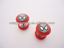 Fake Plug Earrings Spider Man Marvel Plugs Tunnel Ear Piercing Earrings