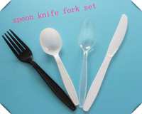high-quality disposable plastic spoon knife fork set