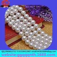 DIY accessories 3-16 m round full straight punched holes scattered beads natural white conch pearls