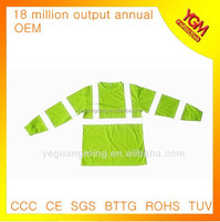 fluo green long sleeve safety reflective t shirt