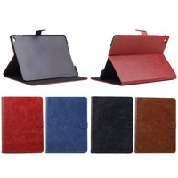 For iPad Mini 4 , High Quality Cow Crazy Horse Leather Texture Cover Case for 4 colours