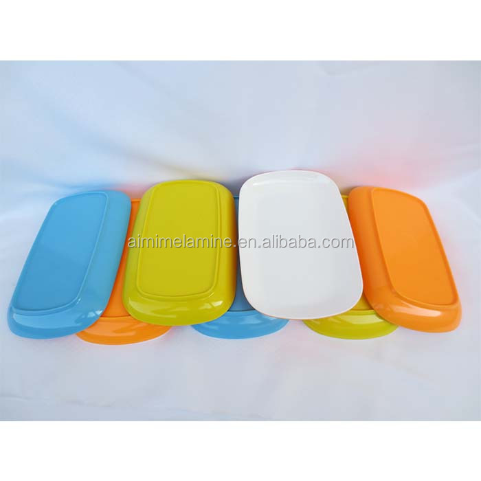 Factory custom food safety oval melamine cookie plate
