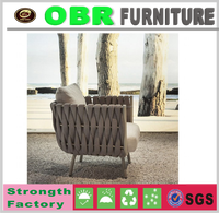 High quality Rope single sofa home garden use outdoor furniture