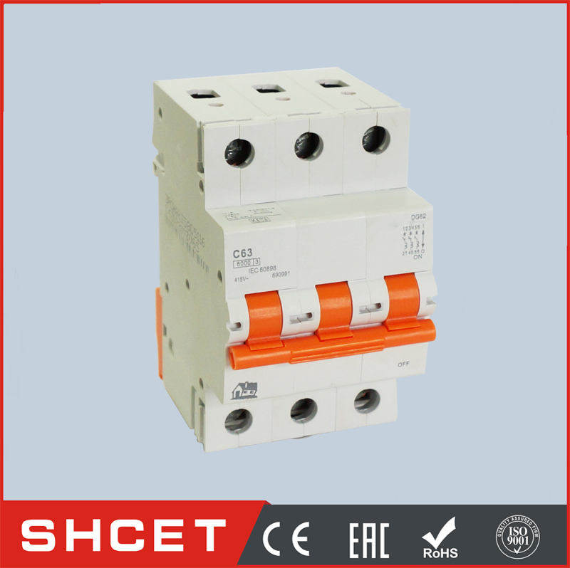 HOT 1amp to 63amp AGE disjuntor miniature circuit breaker