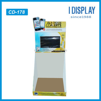 LCD digital video counter display for mobile phone counter top display case