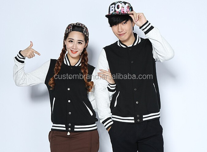 Blank baseball jacket wholesale, custom baseball jacket