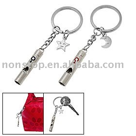 Promotion Metal Whistle Key Chain/Key ring/keyring/keychain