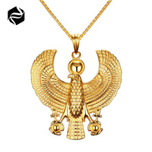 Yiwu jewelry wholesale stainless steel eagle pendant gold men pendant necklace