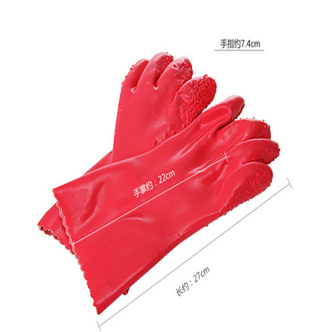 Factory Price Magic Red Potato Peeling Cleaning Glove