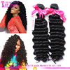 Aliexpress brazilian hair extenison grade 8a virgin human hair deep wave aliexpress hair